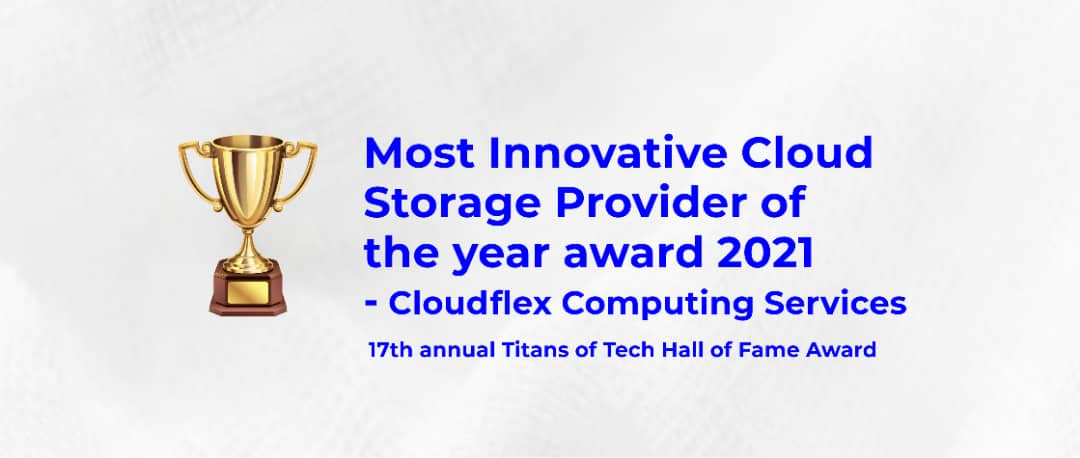 Most Innovative Cloud Storage Provider of the year award 2021
